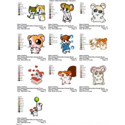 10 Hamtaro Embroidery Designs Collections 06