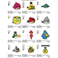 12 Angry Birds Embroidery Designs Collections 01