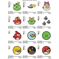 12 Angry Birds Embroidery Designs Collections 02