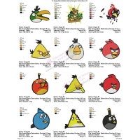 12 Angry Birds Embroidery Designs Collections 03