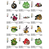 12 Angry Birds Embroidery Designs Collections 04