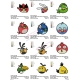 12 Angry Birds Embroidery Designs Collections 09