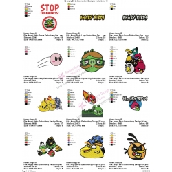 12 Angry Birds Embroidery Designs Collections 10