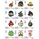 12 Angry Birds Embroidery Designs Collections 11