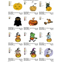 12 Halloween Embroidery Designs Collection 01