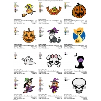 12 Halloween Embroidery Designs Collection 02