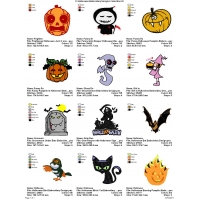 12 Halloween Embroidery Designs Collection 03