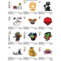 12 Halloween Embroidery Designs Collection 04