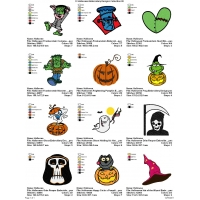 12 Halloween Embroidery Designs Collection 05