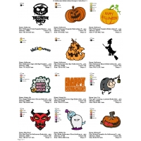 12 Halloween Embroidery Designs Collection 11