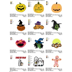 12 Halloween Embroidery Designs Collection 12