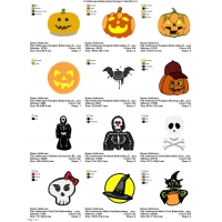 12 Halloween Embroidery Designs Collection 13