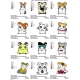 12 Hamtaro Embroidery Designs Collections 01