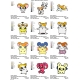 12 Hamtaro Embroidery Designs Collections 04