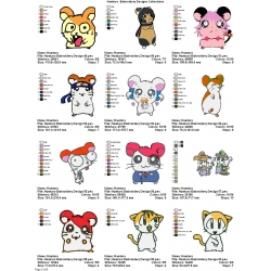 12 Hamtaro Embroidery Designs Collections 05