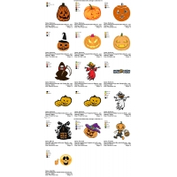 16 Halloween Embroidery Designs Collection 14