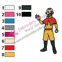 Aang Avatar The Last Airbender Embroidery Design 04