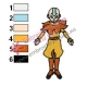 Aang Avatar The Last Airbender Embroidery Design 05