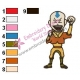 Aang Avatar The Last Airbender Embroidery Design 06