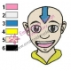 Aang Avatar The Last Airbender Embroidery Design 07