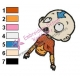 Aang Avatar The Last Airbender Embroidery Design 08