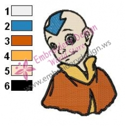 Aang Avatar The Last Airbender Embroidery Design 09