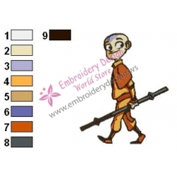Aang Embroidery Design 02