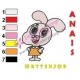 Anais Watterson Amazing World of Gumball Embroidery Design