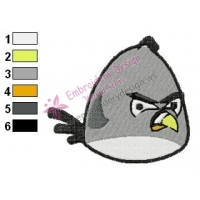 Angry Birds Embroidery Design 001