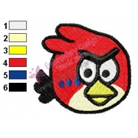 Angry Birds Embroidery Design 037