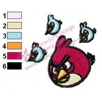 Angry Birds Embroidery Design 20