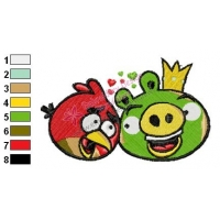 Angry Birds Embroidery Design 22