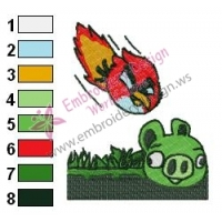 Angry Birds Embroidery Design 55