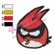Angry Birds Space Embroidery Design 04