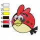 Angry Birds Space Embroidery Design 14