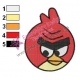 Angry Birds Space Embroidery Design 15