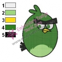Angry Birds Space Embroidery Design 18
