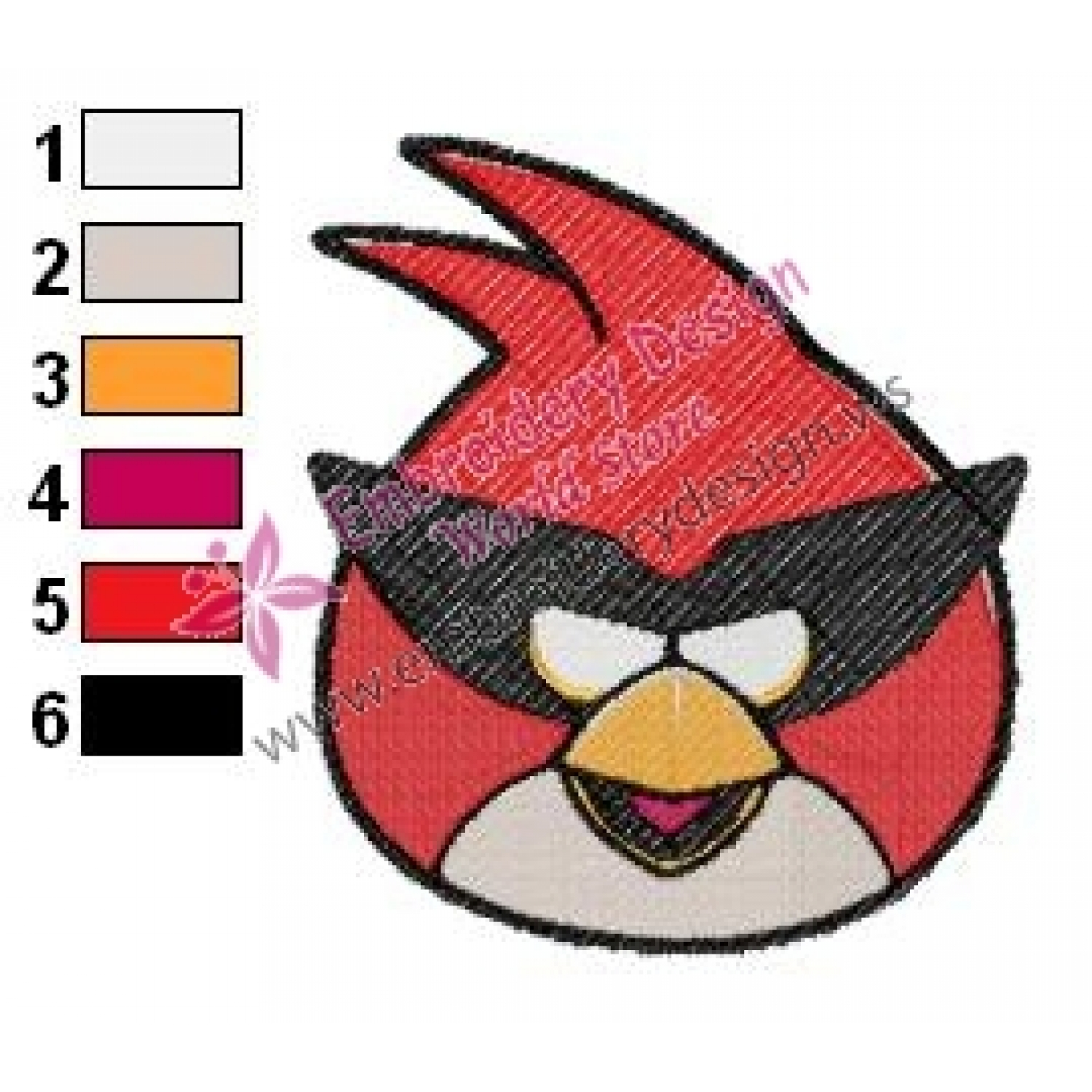 Angry birds space embroidery design for Space embroidery designs