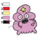 Angry Lumpy Space Princess Embroidery Design