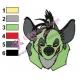 Animal Hyena Embroidery shenzi 01
