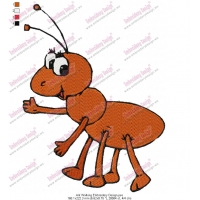 Ant Walking Embroidery Design