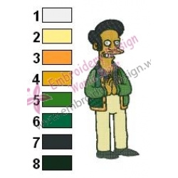 Apu Simpsons Embroidery
