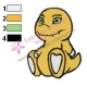 Baby Agumon Digimon Embroidery Design