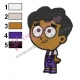 Baby Baljeet Phineas and Ferb Embroidery Design