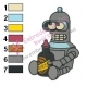 Baby Bender Futurama Embroidery Design