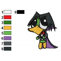 Baby Count Duckula Embroidery Design