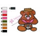 Baby Fozzie Bear Muppets Embroidery Design
