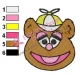 Baby Fozzie Muppets Embroidery Design