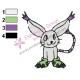 Baby Gabumon Embroidery Design 02