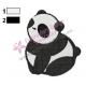 Baby Kung Fu Panda Embroidery Design